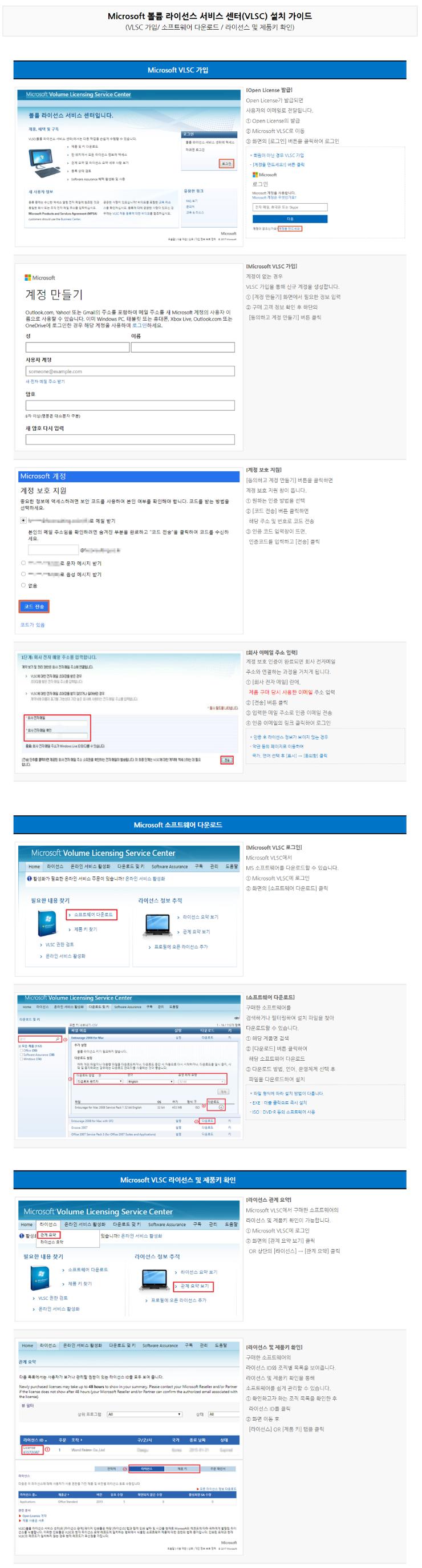 Microsoft 볼륨 라이선스 서비스 센터(VLSC) 설치 가이드.png